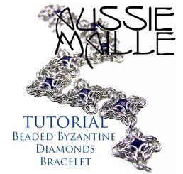 Beaded Byzantine Diamond