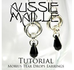 Mobius Tear Drop Earrings