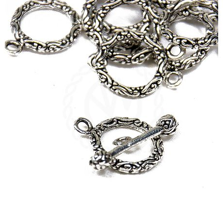 Pewter toggle clasp