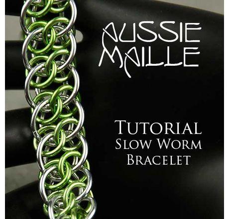 Slow Worm Bracelet Tutorial