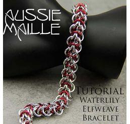 Water Lily Elfweave Bracelet Tutorial