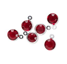 glass drop charm