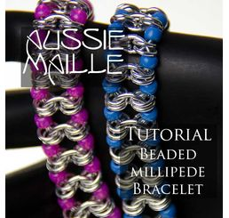 Beaded Millipede Bracelet