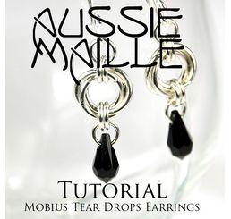 Mobius Tear Drop Earrings
