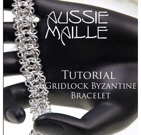 Gridlock Byzantine Bracelet Tutorial