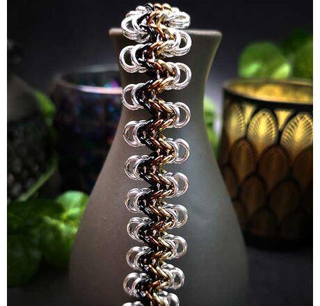 Staggered Byzantine Halves Bracelet