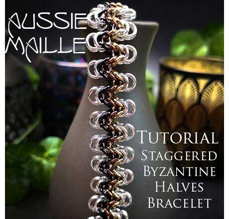 Staggered Byzantine Halves Bracelet Tutorial